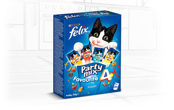 Snack para Gatos Felix Party Mix Favourite 4