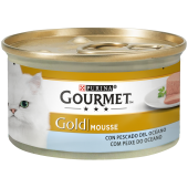 Gourmet® Gold Mousse com Peixe do Oceano 85g