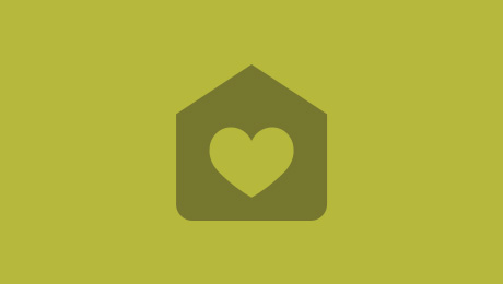 Green house and heart icon
