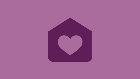 Purple house icon