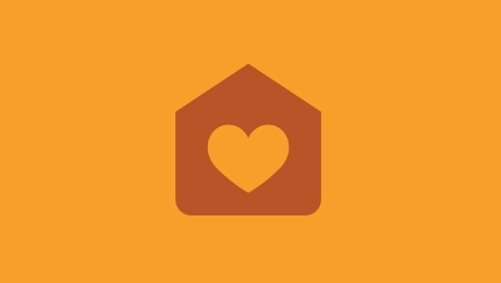 Orange welfare icon